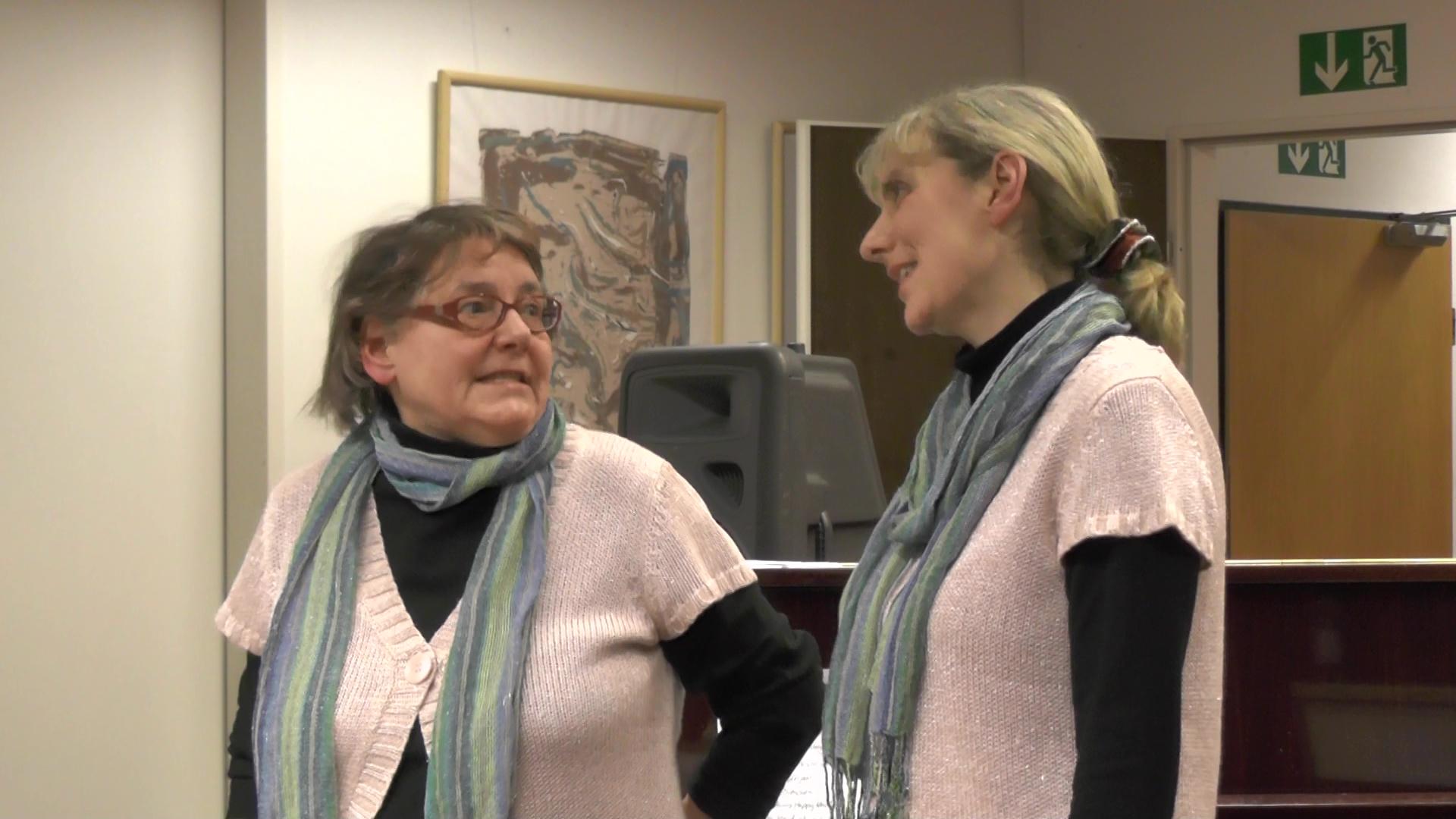 Duo Dreiklang singt a cappella